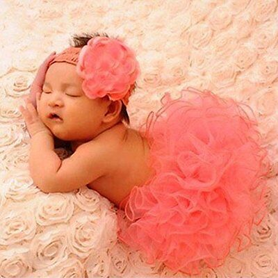 US Hot Newborn Baby Girls Knitted Tutu Clothes Skirt Crochet Photo Prop Outfits