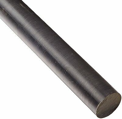 """MDS-Filled Cast Nylon Round Rod, Opaque Black, Meets ASTM D5989, 2"""" Diameter, 1"""
