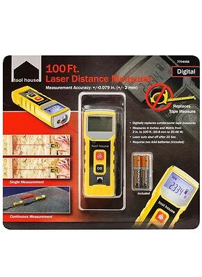 NEW TOOL HOUSE 100 Ft. LASER DISTANCE MEASURER *NEW IN PACKAGING*