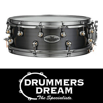 "Pearl Dennis Chambers 14""x5"" Signature Snare Drum Black Nickel finish RRP $1399"