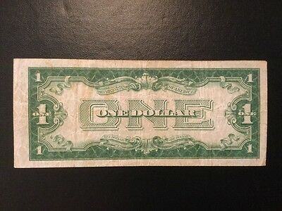 1928A $1 Silver Certificate FUnnY Back One Dollar Bill Note NR Free Ship 1928 A