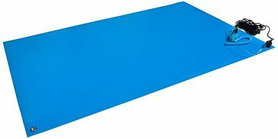 """Bertech ESD Mat Kit with a Wrist Strap and a Grounding Cord, 18"""" Wide x 24"""" Long"""