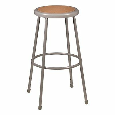 """Learniture NOR-TY-538-30 Bar Height Steel Stool with Hardboard Seat, 30"""" Height,"""