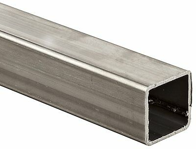 "Stainless Steel 304 Square Tubing, ASTM A554, 1-1/2"" x 1-1/2"", 0.12"" Wall, 48"""