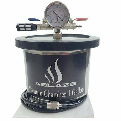 ABLAZE 1 Gallon Gal Vacuum Chamber Stainless Steel Degassing Urethanes Silicone