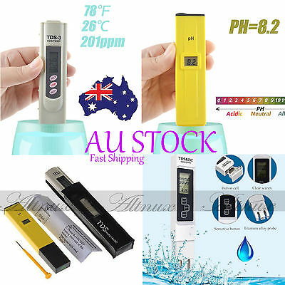 Digital PH Meter & TDS LCD Tester Lab Aquarium Pool Hydroponic Water Monitor #i3