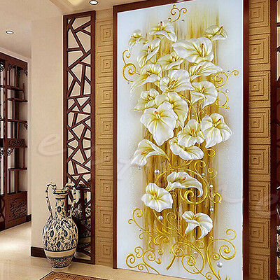 Hot DIY 5D Diamond Embroidery Painting Lily Flower Mosaic Cross Stitch Craft Kit