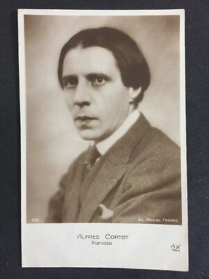 Vintage Postcard: Historical Figure: #A56 : Real Photo : Pianist Alfred Cortot