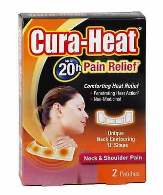 Cura - Heat Pain Relief -Neck & Shoulder Pain, Penetrating Heat Action,up to 20h