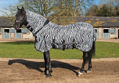 Rhinegold Zebra Print Fly Combo Rug with Belly Flap Flies Hate Stripes ALL SIZES
