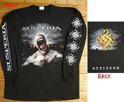 "NEW AND OFFICIAL SUSPERIA ""Attitude UNISEX Longsleeve T-shirt LARGE"