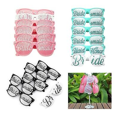 Set of 12 Wedding Sunglasses Groonsmaid Bride To Be Hen Night Party Accessories
