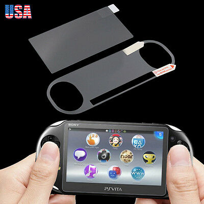 Front Tempered Glass + Back Film  Screen Protector For Sony PS Vita PCH-2000