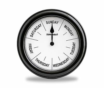 Dementia Day Clock - Clearly Shows Day - Easy To See Bold Text - Dementia Aid