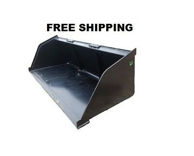 "84"" SNOW/MULCH BUCKET- skid steer quick attach bucket *FREE SHIPPING*"