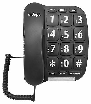 Big Button Telephone With Hands Free Speaker - Easy To Read & Press Numbers