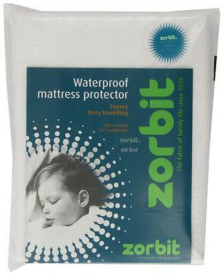 Zorbit Waterproof Mattress Protector Sheet Matt Pro Cot Bed White Terry Toweling