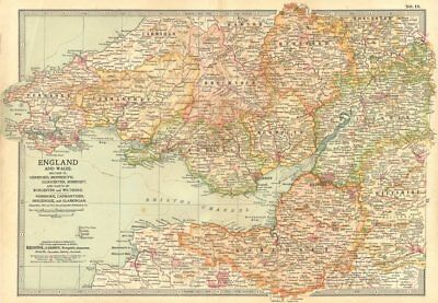 SOUTH WALES SEVERN ESTUARY.Gloucestershire Somerset Herefordshire 1903 old map
