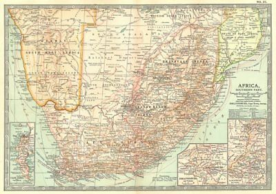 SOUTH AFRICA. Botswana, Namibia; Cape Town, Johannesburg, Ladysmith 1903 map