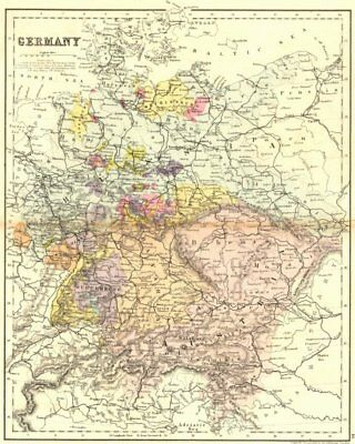 GERMANY. Mackenzie 1868 old antique vintage map plan chart