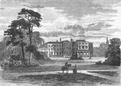 GREAT STANMORE AND ELSTREE. Bentley Priory (from a view taken in 1849) 1888
