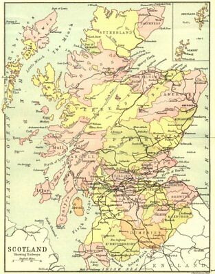 SCOTLAND. Railways. Philip Shetland Orkney inset 1891 old antique map chart