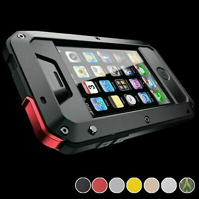 Waterproof Shockproof Aluminum Gorilla Glass Metal Cover Case For Apple iPhone