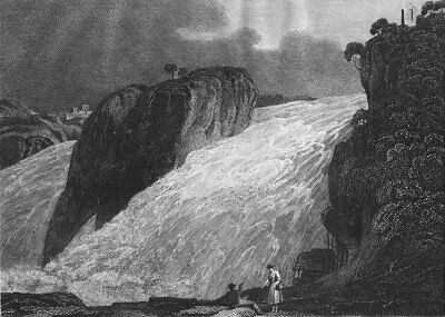 SCHAFFHAUSEN. Fall Rhine. Germany falls. Blomfield 1807 old antique print