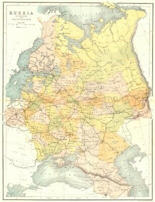 RUSSIA. In Europe Transcaucasia c1885 old antique vintage map plan chart