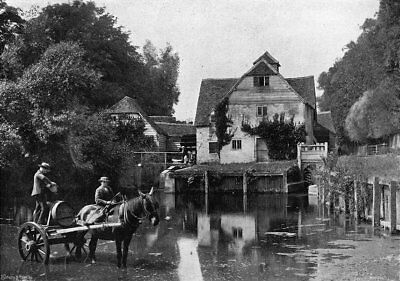 OXON. Mapledurham Mill 1897 old antique vintage print picture