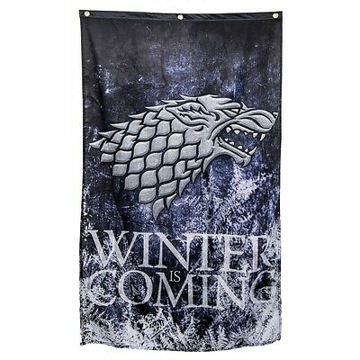 "Authentic GAME OF THRONES Stark Winter Is coming Banner Poster Flag 30""x50"" NEW"