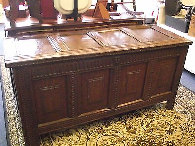 Lovely Antique Welsh Oak Coffer