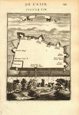 BAGHDAD. 'Bagdet'. Walled city & fortifications plan. Iraq. MALLET 1683 map