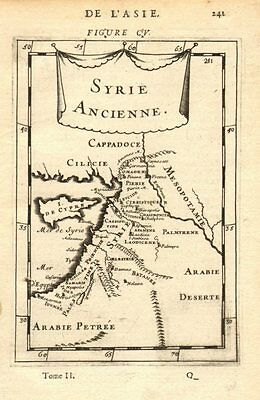 ANCIENT LEVANT. 'Syrie Ancienne'. Syria Palestine Cyprus Jordan. MALLET 1683 map