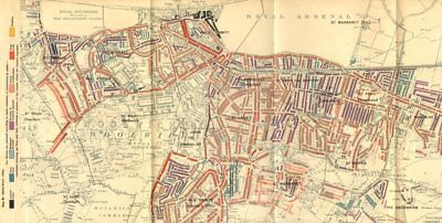WOOLWICH Charles Booth poverty map Plumstead Charlton Shooter's Hill 1902