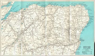 SCOTLAND. Aberdeen, Inverness, Banff, Moray, Nairn 1964 old vintage map chart