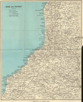 CORNWALL. Bude and district 1964 old vintage map plan chart