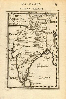 ANCIENT INDIA. 'Inde Ancienne a l'Occident du Gange'. Tribes. MALLET 1683 map