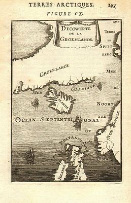 NORTH ATLANTIC/ARCTIC OCEANS. Greenland Iceland Norway Britain. MALLET 1683 map