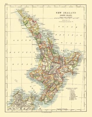 NORTH ISLAND NEW ZEALAND. Showing counties telegraph cables. JOHNSTON 1920 map