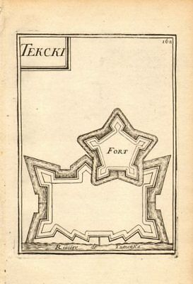 RUSSIAN CAUCASUS. Fort Terki, Tumenka river (Terek). Razed 1763. MALLET 1683 map