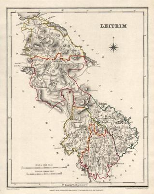 COUNTY LEITRIM antique map for LEWIS by CREIGHTON & DOWER. Ireland 1846