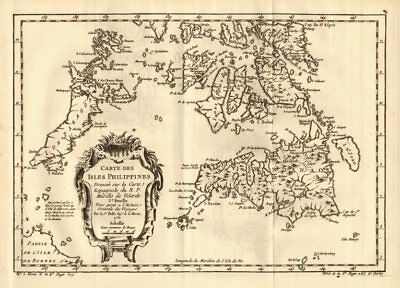 'Isles Philippines 2e feuille'. Visayas Mindanao Palawan. BELLIN 1758 old map