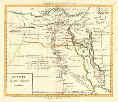 'Egypte Arabie Pétrée' by Lamarche. Cairo Red Sea Arabia Petraea c1795 old map