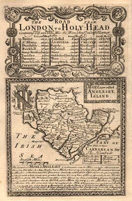 'Mona, now called Anglesey, Island.'. County map by J. OWEN & E. BOWEN 1753