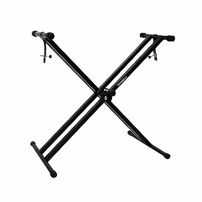ChromaCast CC-KSTAND Double Braced X-Style Pro Series Keyboard Stand with Straps