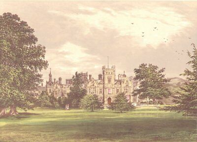 PRESTON HALL, Aylesford, Kent (Brassey) 1891 old antique vintage print picture
