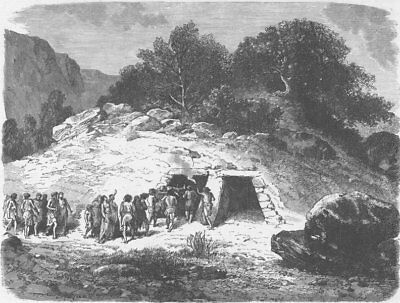 PREHISTORIC. Tumulus of the Neolithic or polished stone Epoch 1890 old print