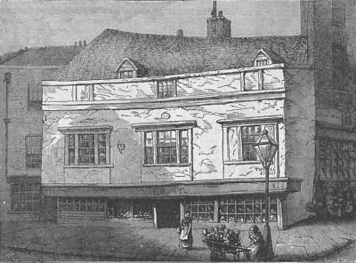 WESTMINSTER. Old Houses in Tothill Street. London c1880 antique print