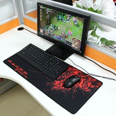Tappetino Gaming Mouse Pad per Mouse e Tastiera Mantis Rosso 70 x 30 cm